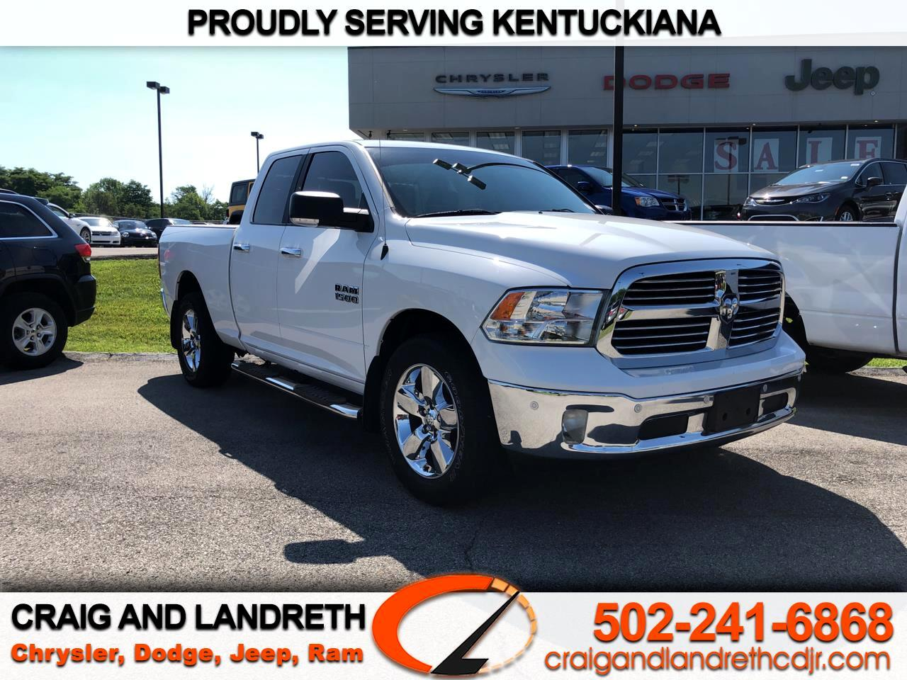 Pre-Owned 2018 RAM 1500 Big Horn 4x4 Quad Cab 6 ft4 in Box