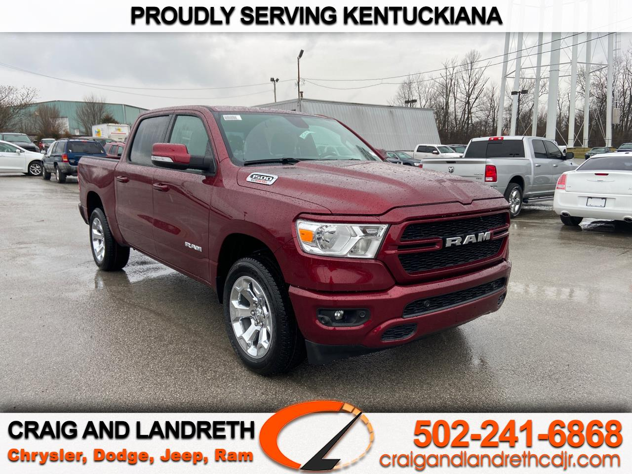 New 2020 RAM 1500 BIG HORN 4X4 CREW CAB 5 ft7